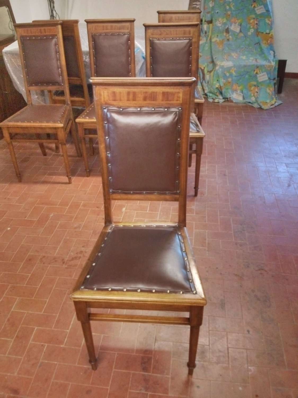 Die Wiederherstellung der sechs Stühle in Nussbaum 1920 ...