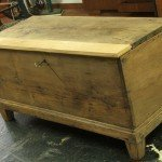 Chestnut wood chest restoration