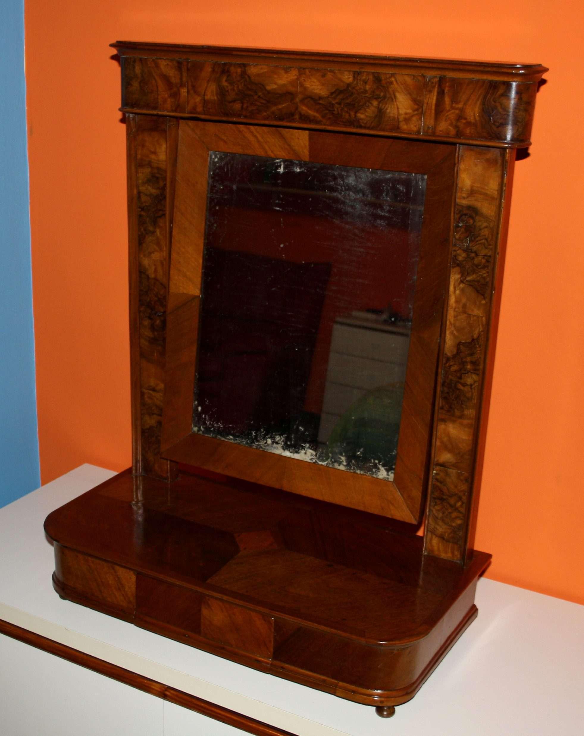 spiegel aus der kommode 1890 1910 nussbaum und wurzelnuss cancello ce. Black Bedroom Furniture Sets. Home Design Ideas